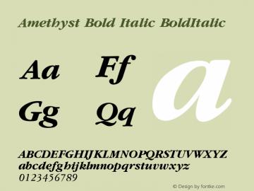 Amethyst Bold Italic