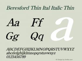 Beresford Thin Ital