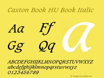 Caxton Book HU