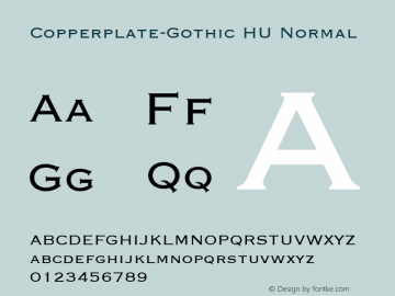 Copperplate-Gothic HU