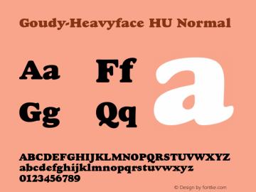 Goudy-Heavyface HU