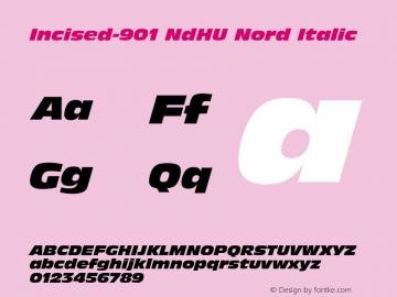 Incised-901 NdHU