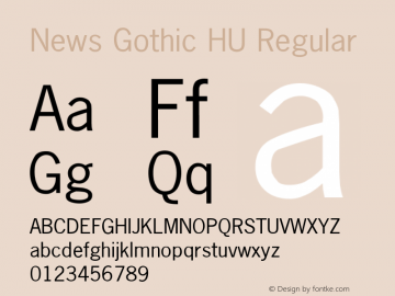 News Gothic HU