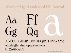 Windsor-LightCondensed HU