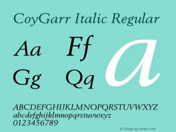 CoyGarr Italic