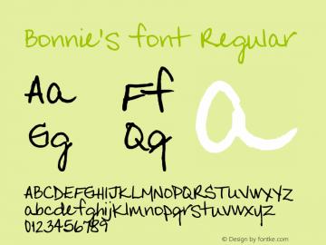 Bonnie's font
