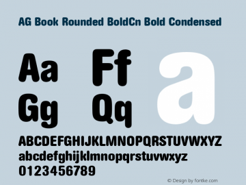 AG Book Rounded BoldCn