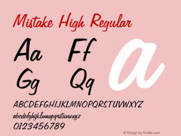 Mistake High