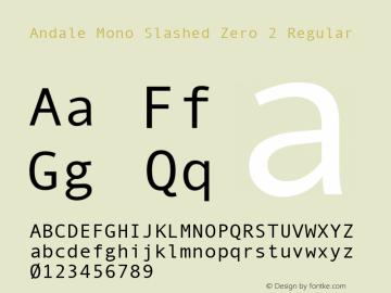 Andale Mono Slashed Zero 2