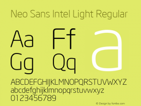 Neo Sans Intel Light