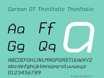 Carbon OT ThinItalic