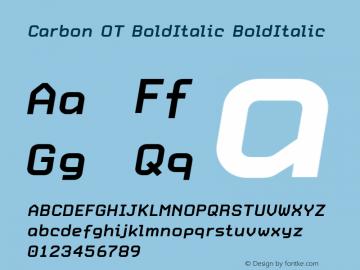 Carbon OT BoldItalic