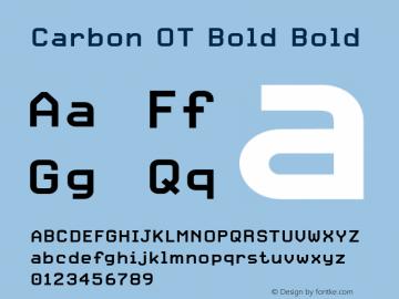 Carbon OT Bold