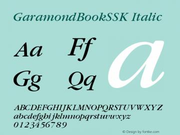 GaramondBookSSK
