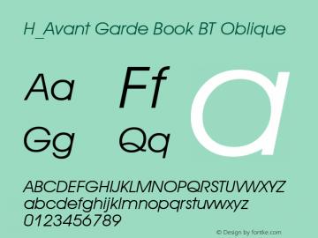 H_Avant Garde Book BT