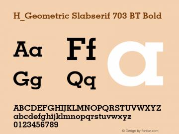 H_Geometric Slabserif 703 BT