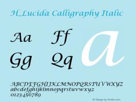 H_Lucida Calligraphy