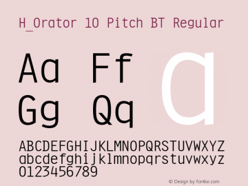 H_Orator 10 Pitch BT