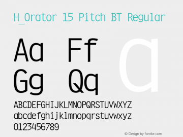 H_Orator 15 Pitch BT