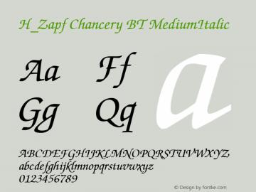 H_Zapf Chancery BT