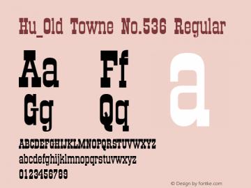 Hu_Old Towne No.536