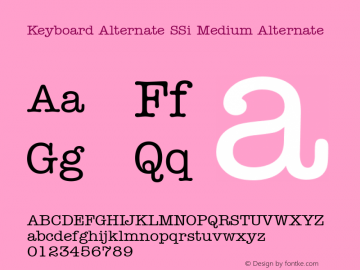 Keyboard Alternate SSi