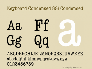 Keyboard Condensed SSi