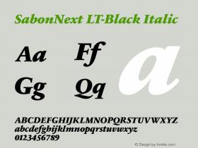 SabonNext LT-Black