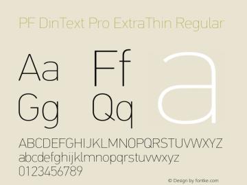 PF DinText Pro ExtraThin