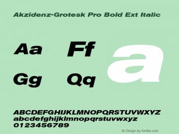 Akzidenz-Grotesk Pro Bold Ext