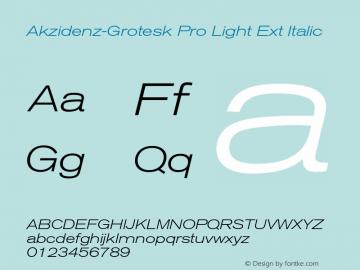 Akzidenz-Grotesk Pro Light Ext