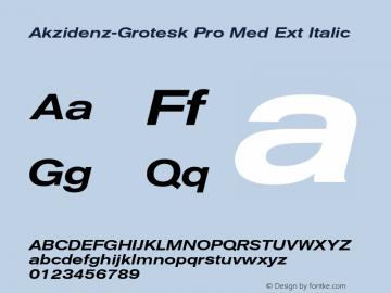 Akzidenz-Grotesk Pro Med Ext