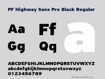 PF Highway Sans Pro Black