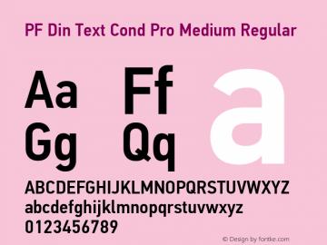 Шрифт pf din text cond pro medium