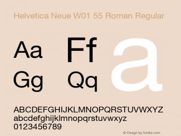 Helvetica Neue 55 Roman
