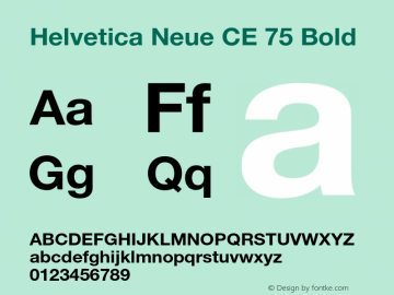 Helvetica Neue CE 75