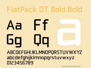 FlatPack OT Bold
