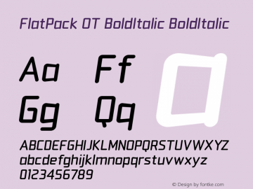 FlatPack OT BoldItalic