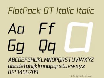 FlatPack OT Italic