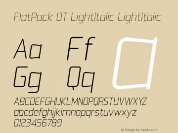 FlatPack OT LightItalic