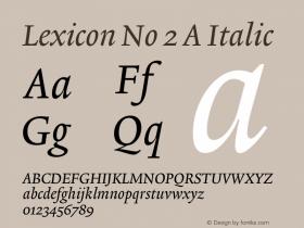 Lexicon No 2 A