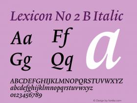 Lexicon No 2 B