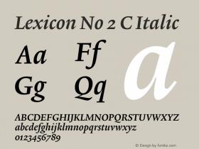 Lexicon No 2 C