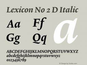 Lexicon No 2 D