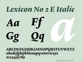 Lexicon No 2 E