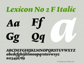 Lexicon No 2 F