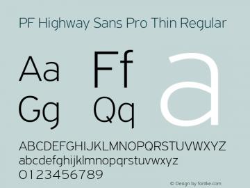 PF Highway Sans Pro Thin