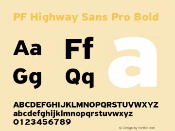 PF Highway Sans Pro