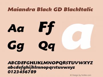 Maiandra Black GD