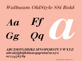 Walbaum OldStyle SSi